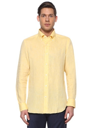 Luciano Barbera Gömlek Sarı